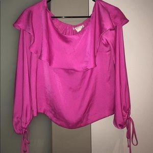 Forever 21 Fuchsia Off The Shoulder Top